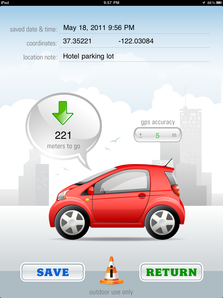 Iphone Apps Ez Car Finder Ipad
